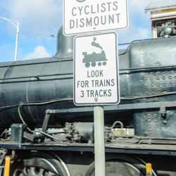 Watch for trains